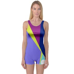 Geometrical Abstraction One Piece Boyleg Swimsuit by Valentinaart