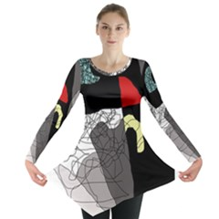 Decorative Abstraction Long Sleeve Tunic  by Valentinaart
