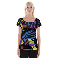 Optimistic Abstraction Women s Cap Sleeve Top by Valentinaart