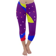 Optimistic Abstraction Capri Winter Leggings  by Valentinaart
