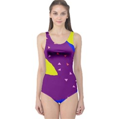 Optimistic Abstraction One Piece Swimsuit by Valentinaart