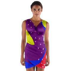 Optimistic Abstraction Wrap Front Bodycon Dress by Valentinaart
