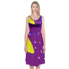Optimistic Abstraction Midi Sleeveless Dress by Valentinaart