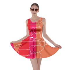 Orange Abstraction Skater Dress by Valentinaart