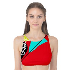 Colorful Abstraction Tank Bikini Top by Valentinaart