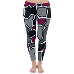 Decorative Abstraction Winter Leggings  by Valentinaart