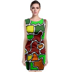Africa Abstraction Classic Sleeveless Midi Dress by Valentinaart