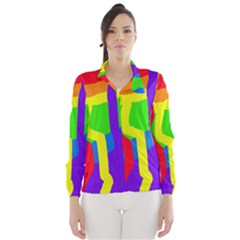 Rainbow Abstraction Wind Breaker (women) by Valentinaart