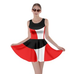 Red, Black And White Skater Dress by Valentinaart