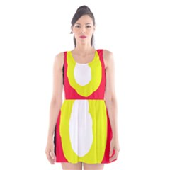 Colorful Abstraction Scoop Neck Skater Dress by Valentinaart
