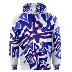 Deep Blue Abstraction Men s Pullover Hoodie by Valentinaart