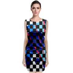 Blue Abstraction Classic Sleeveless Midi Dress by Valentinaart