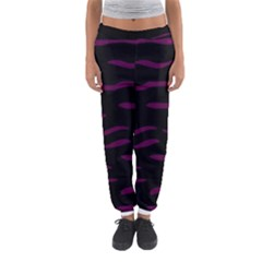 Purple And Black Women s Jogger Sweatpants by Valentinaart