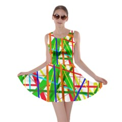 Colorful Lines Skater Dress by Valentinaart