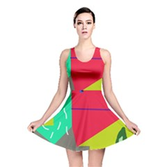 Abstract Bird Reversible Skater Dress by Valentinaart