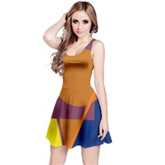 Geometric Abstract Desing Reversible Sleeveless Dress by Valentinaart