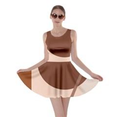 Brown Geometric Design Skater Dress by Valentinaart