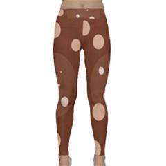 Brown Abstract Design Yoga Leggings