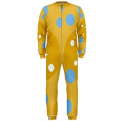 Blue And Yellow Moon Onepiece Jumpsuit (men)  by Valentinaart