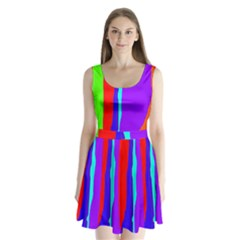 Colorful Decorative Lines Split Back Mini Dress  by Valentinaart