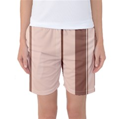 Elegant Brown Lines Women s Basketball Shorts by Valentinaart