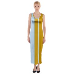 Yellow Elegant Lines Fitted Maxi Dress by Valentinaart