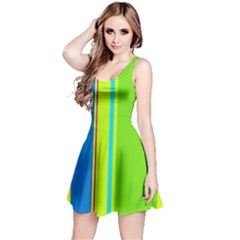 Colorful Lines Reversible Sleeveless Dress by Valentinaart