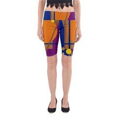 Decorative Abstract Design Yoga Cropped Leggings by Valentinaart