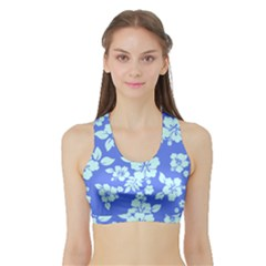 Hawaiian Sky Sports Bra With Border by AlohaStore