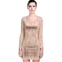 Pink Pattern Long Sleeve Bodycon Dress by Valentinaart