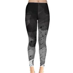 Black And Gray Pattern Leggings  by Valentinaart