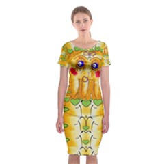 Mister Jellyfish The Octopus With Friend Classic Short Sleeve Midi Dress by pepitasart