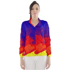 Colorful Pattern Wind Breaker (women) by Valentinaart