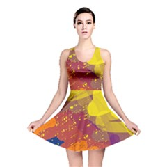 Colorful Abstract Pattern Reversible Skater Dress by Valentinaart