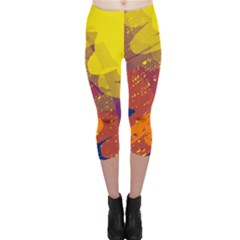 Colorful Abstract Pattern Capri Leggings  by Valentinaart