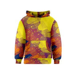 Colorful Abstract Pattern Kids  Pullover Hoodie by Valentinaart