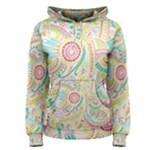 Hippie Flowers Pattern, Pink Blue Green, Zz0101 Women s Pullover Hoodie