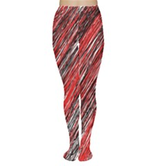 Red And Black Elegant Pattern Women s Tights by Valentinaart