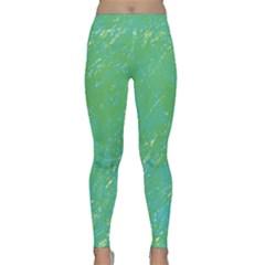 Green Pattern Yoga Leggings