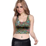 Colorful Hippie Flowers Pattern, zz0103 Racer Back Crop Top