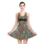 Colorful Hippie Flowers Pattern, zz0103 Reversible Skater Dress