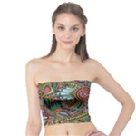 Colorful Hippie Flowers Pattern, zz0103 Tube Top