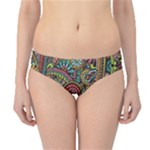 Colorful Hippie Flowers Pattern, zz0103 Hipster Bikini Bottoms