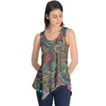 Colorful Hippie Flowers Pattern, zz0103 Sleeveless Tunic