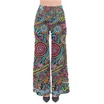 Colorful Hippie Flowers Pattern, zz0103 Pants