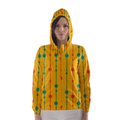 Yellow, Green And Red Pattern Hooded Wind Breaker (women) by Valentinaart