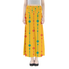 Yellow, Green And Red Pattern Maxi Skirts by Valentinaart