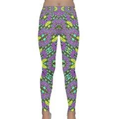 Violet Violin Yoga Leggings  by MRTACPANS