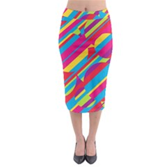 Colorful Summer Pattern Midi Pencil Skirt by Valentinaart