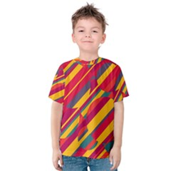 Colorful Hot Pattern Kid s Cotton Tee by Valentinaart